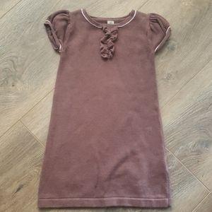 Girls Brown Knit Dress